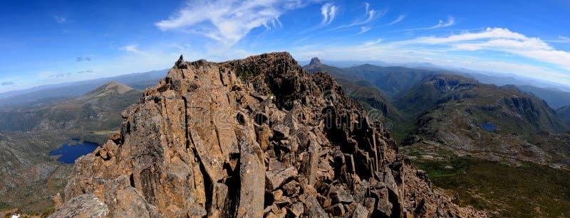 Cumbre Tasmania de la montaña de la horquilla fotografía de archivo