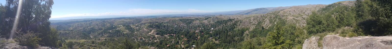 Cumbrecita de La de vue panoramique images libres de droits