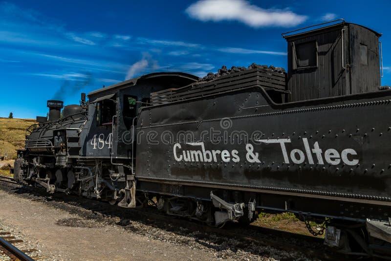 Cumbres & Toltec机车 图库摄影