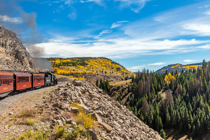 Cumbres & Toltec linia kolejowa fotografia royalty free