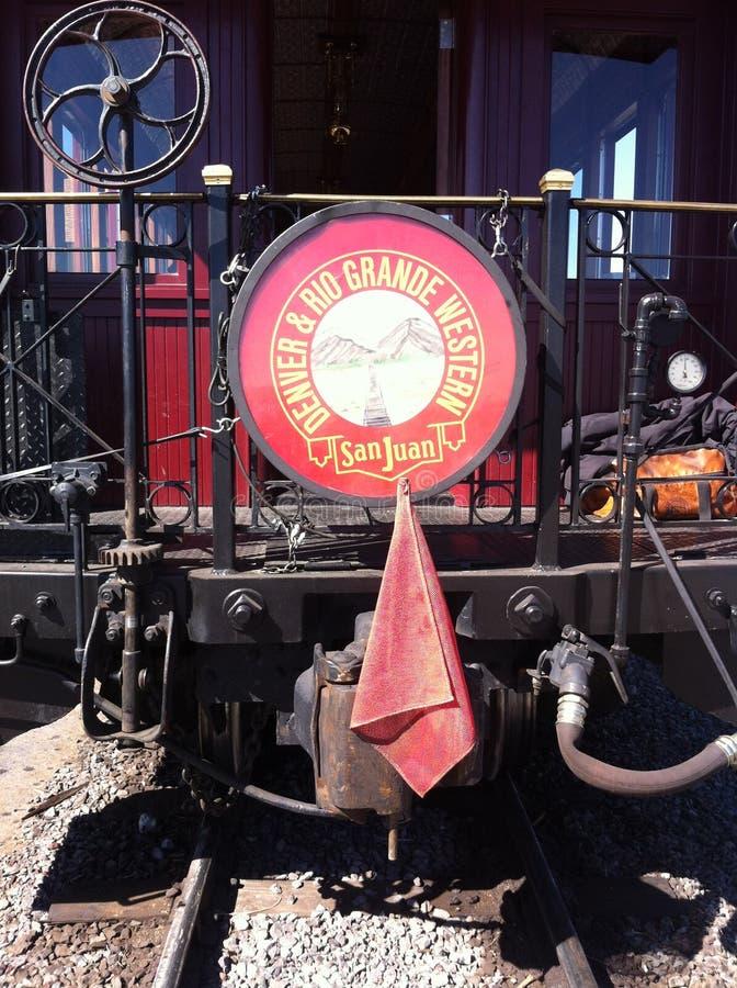 Cumbres & Toltec Scenic Railroad caboose royalty free stock photos