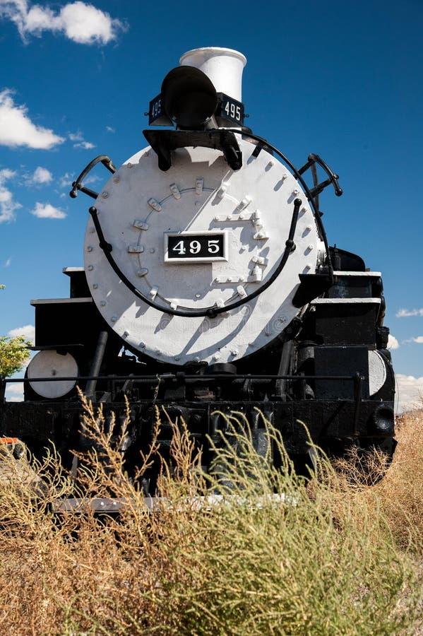 Cumbres and Toltec steam engine in Antonito Colorado stock photo