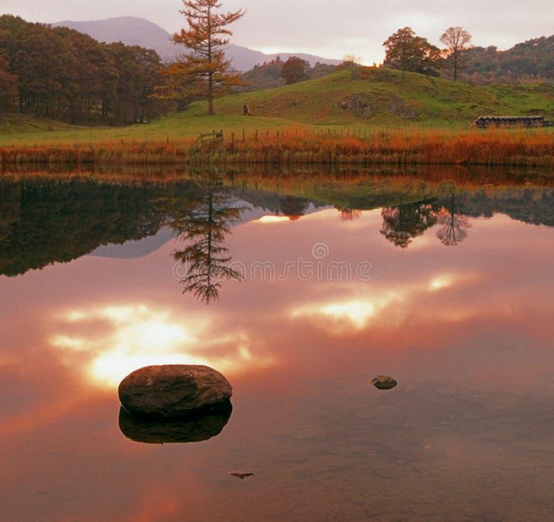 Cumbria de stationnement national de district de lac image libre de droits