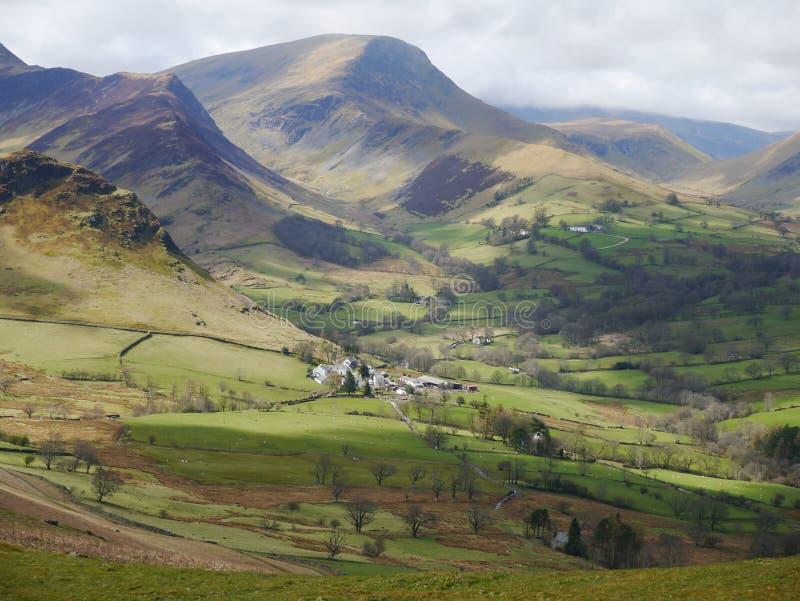 Cumbrian Bauernhof stockfotografie