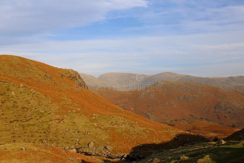 Cumbrian Fells View. stock photo