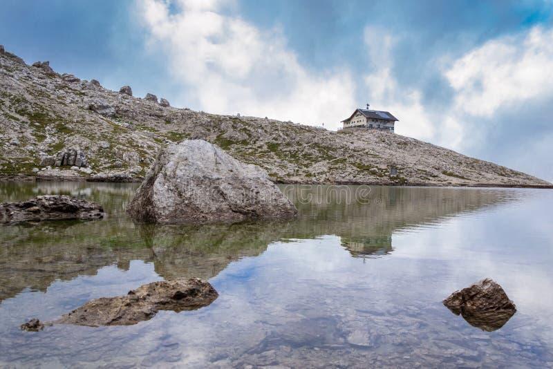 Cumes italianos em Val Badia fotografia de stock