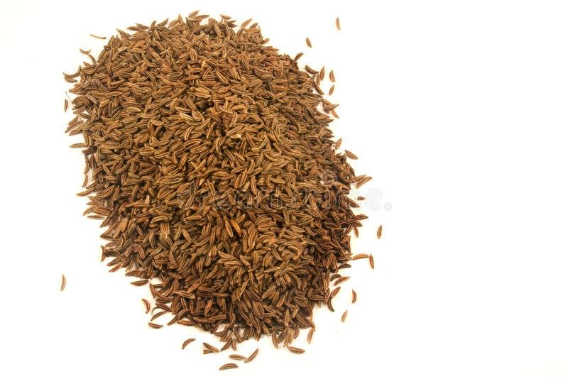 Cumin. Seeds isolated on white stock photo