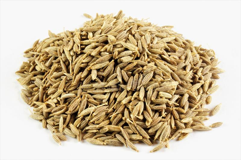 Cumin seeds-spice. Caraway fruits-spicy sharp taste and aroma. Popular in the confectionery industry in cooking, as spices,. Seasoning for soups, pates, cheeses stock photos