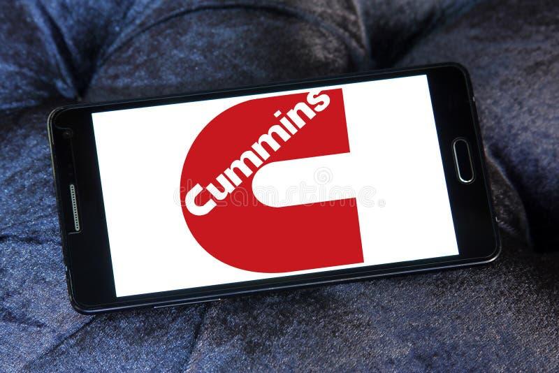 Cummins-Firmenlogo stockfoto