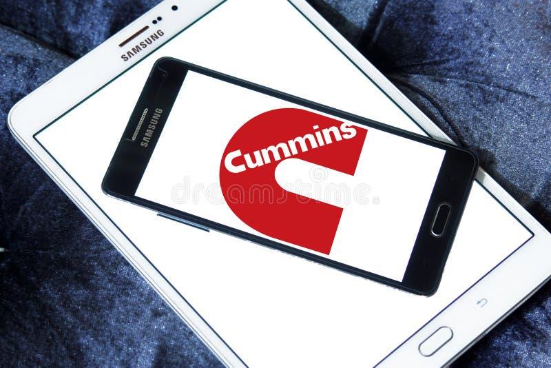 Cummins-Firmenlogo lizenzfreies stockbild