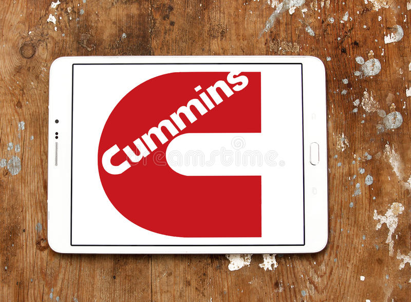 Cummins-Firmenlogo stockfotos
