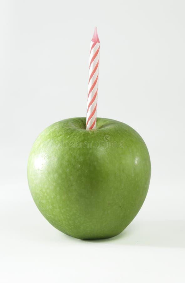 Cumpleaños Apple fotografía de archivo libre de regalías