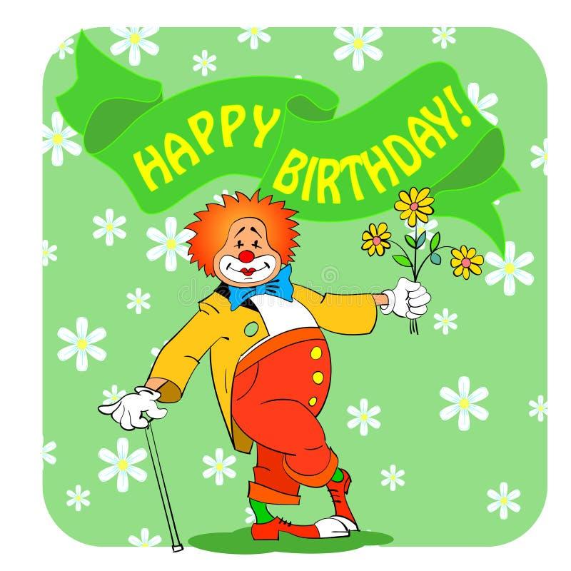 Download Cumpleaños clown03 ilustración del vector. Ilustración de bandera - 41919831