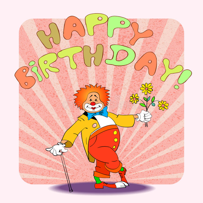 Download Cumpleaños clown02 stock de ilustración. Ilustración de historietas - 41920147