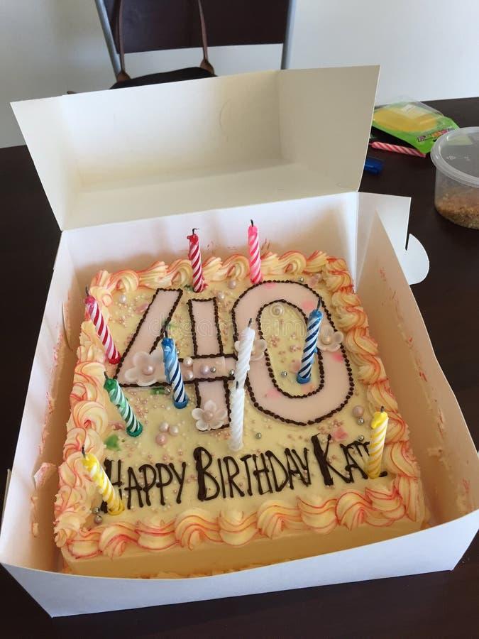 Cumpleaños de 40 años imagen de archivo libre de regalías