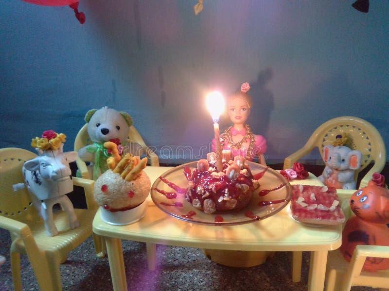 Cumpleaños de Barbie fotos de archivo