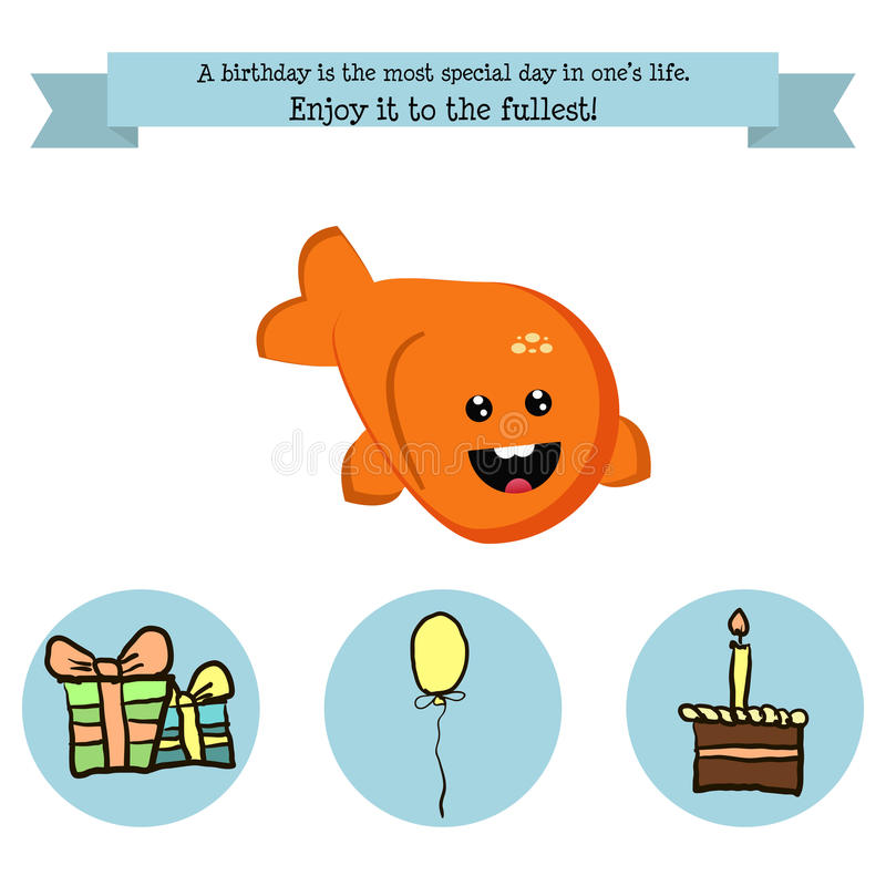 Cumpleaños de la enhorabuena con un carácter libre illustration