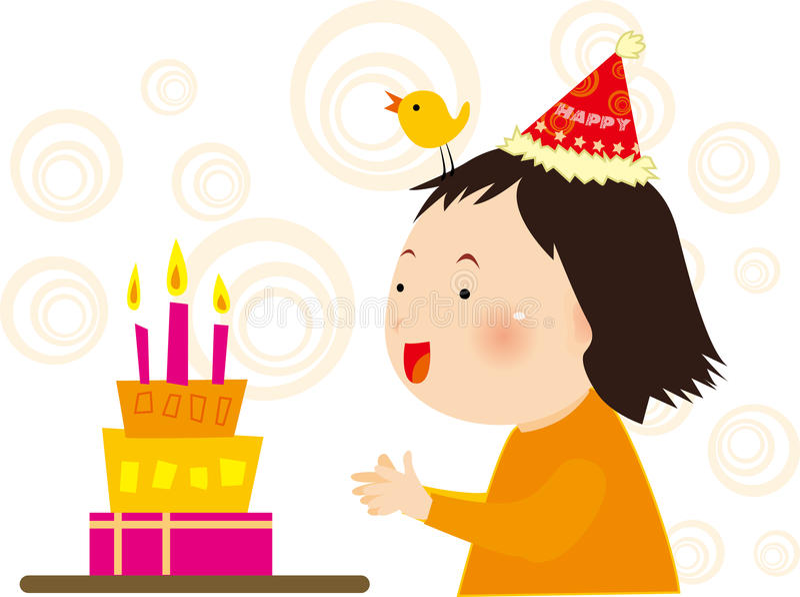 Cumpleaños de la muchacha libre illustration