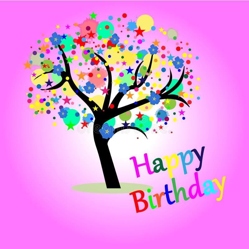 Cumpleaños de la tarjeta de felicitación feliz libre illustration