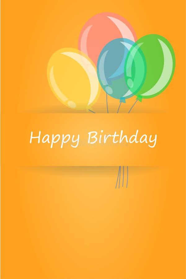 Cumpleaños de la tarjeta de felicitación feliz ilustración del vector