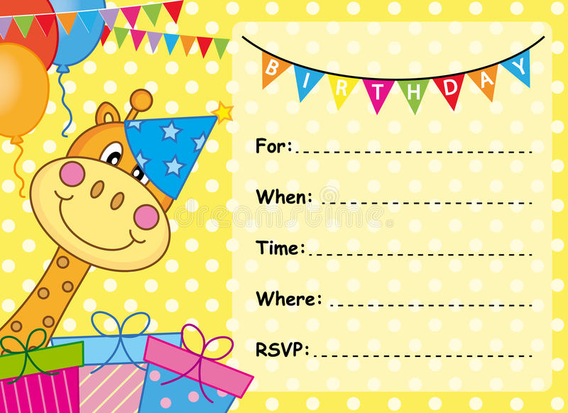 El Cumpleaños Y La Invitación Cardan El Fondo Animal Con La