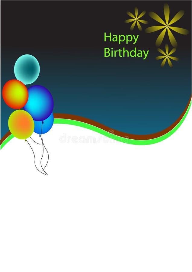 Cumpleaños del fondo fotografía de archivo