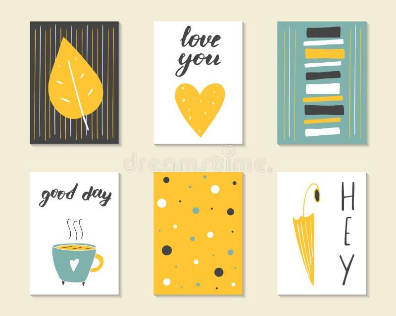 Cumpleaños dibujado mano linda del garabato, partido, tarjetas de la fiesta de bienvenida al bebé libre illustration