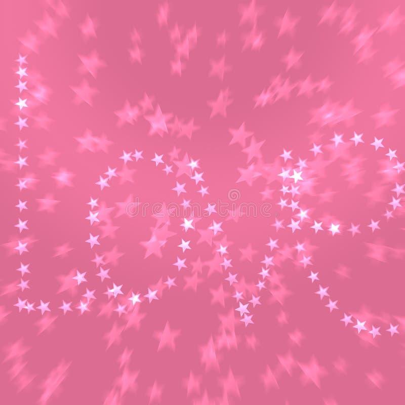 Cumpleaños sólido Bokeh A de las mujeres de Purple Heart de la tarjeta del día de San Valentín del día rosado del ` s ilustración del vector