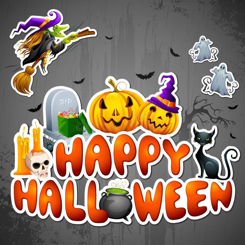 Cumprimento de Halloween ilustração royalty free