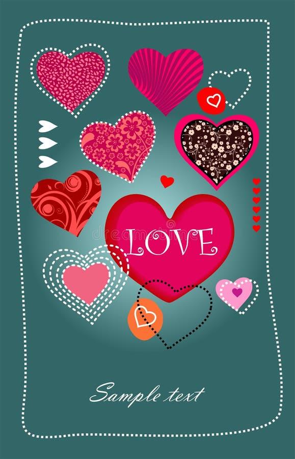 Cumprimento do amor ilustração do vetor
