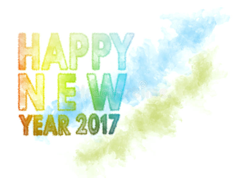 Cumprimento 2017 do cartão da ilustração do ano novo feliz ilustração royalty free