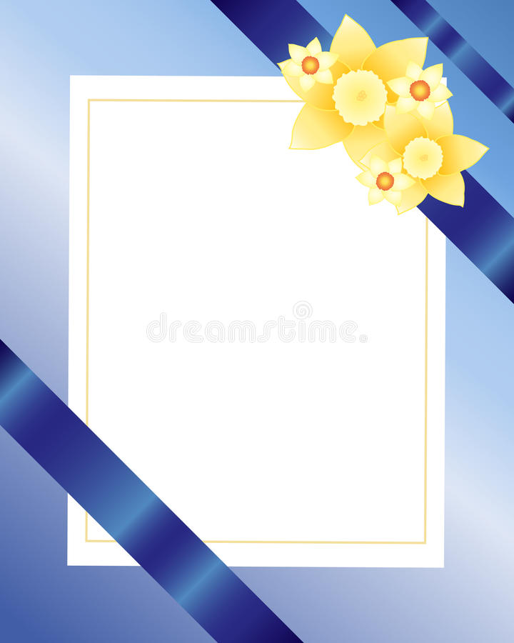 Cumprimento do Daffodil ilustração do vetor