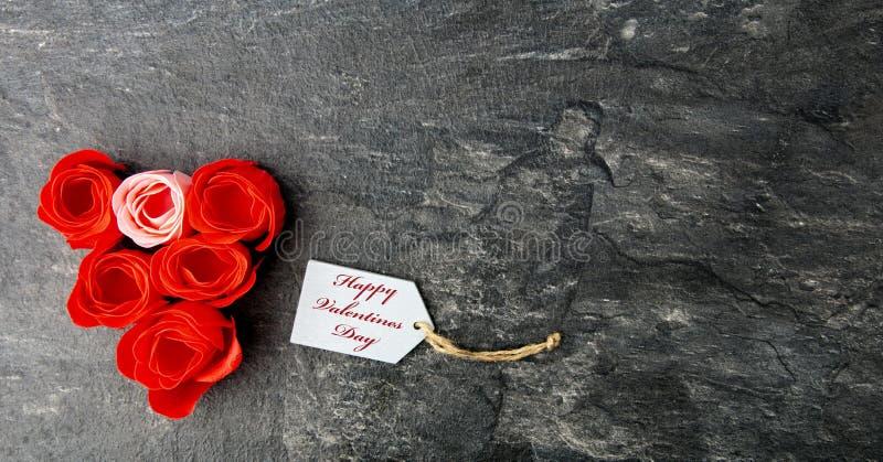 Cumprimento do dia de Valentim fotos de stock royalty free
