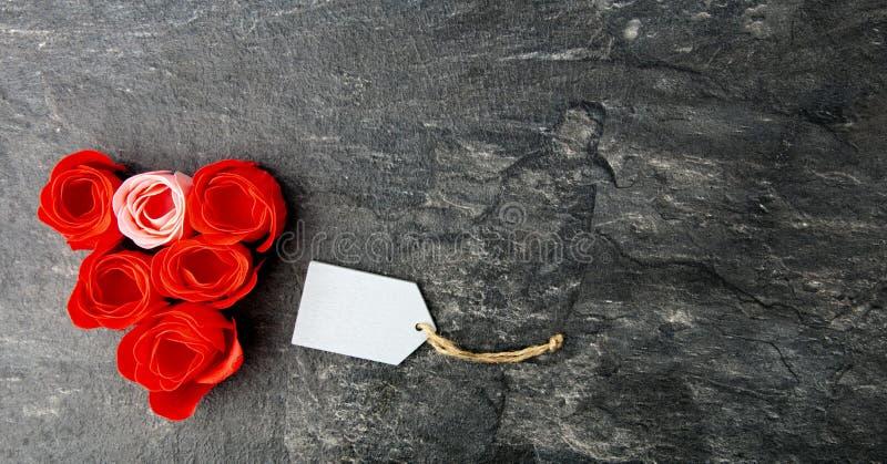 Cumprimento do dia de Valentim fotografia de stock