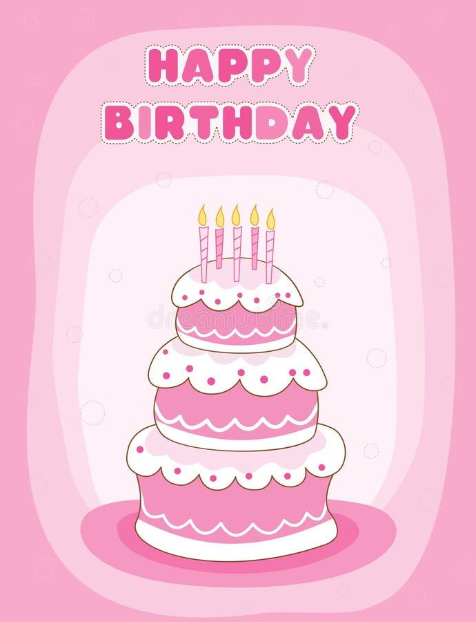 Cumprimento do feliz aniversario ilustração royalty free