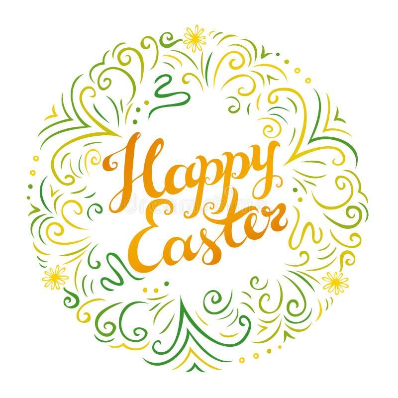 Cumprimento feliz de Easter ilustração royalty free