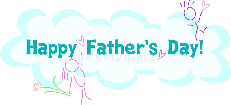 Cumprimento feliz do dia de Fatherâs ilustração stock