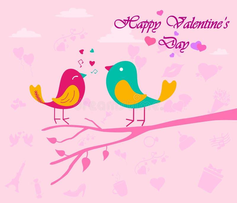Cumprimento feliz do dia de Valentim ilustração royalty free