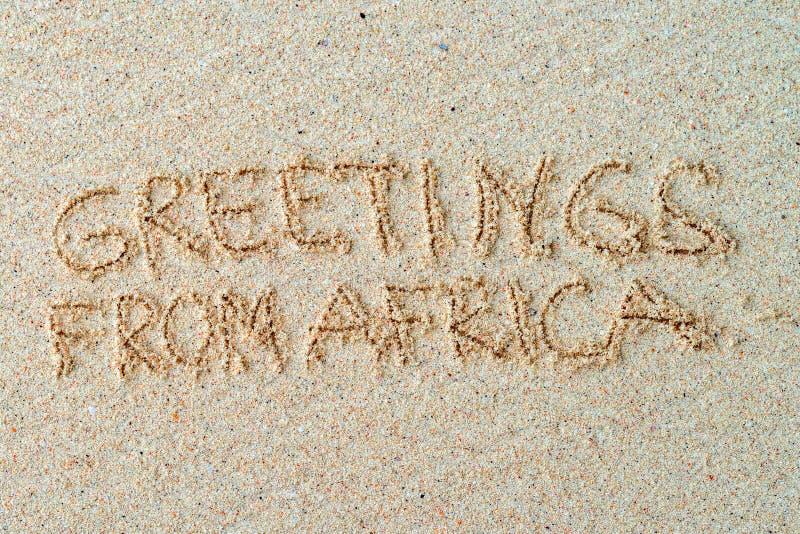 Cumprimentos de África fotos de stock