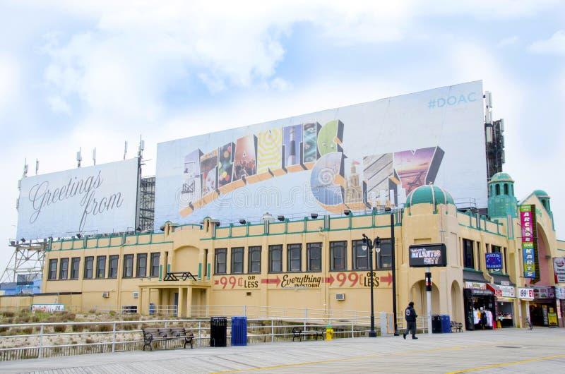 Cumprimentos de Atlantic City imagens de stock royalty free