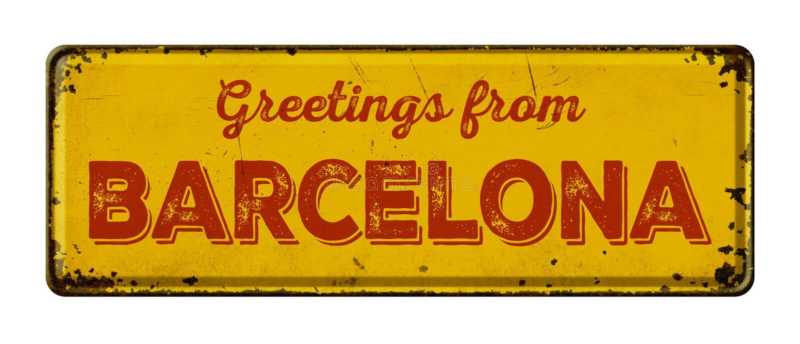 Cumprimentos de Barcelona fotos de stock royalty free