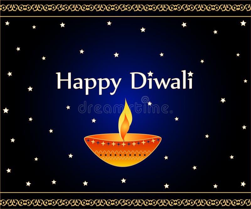Cumprimentos de Diwali ilustração do vetor