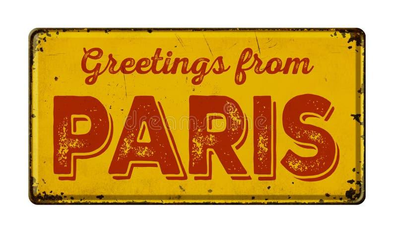 Cumprimentos de Paris fotografia de stock