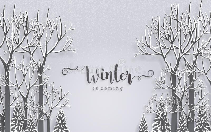 Cumprimentos do Feliz Natal e ano novo feliz 2019 ilustração stock