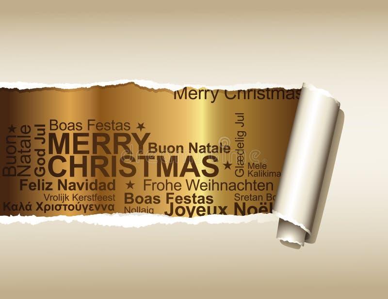 Cumprimentos do Natal ilustração royalty free