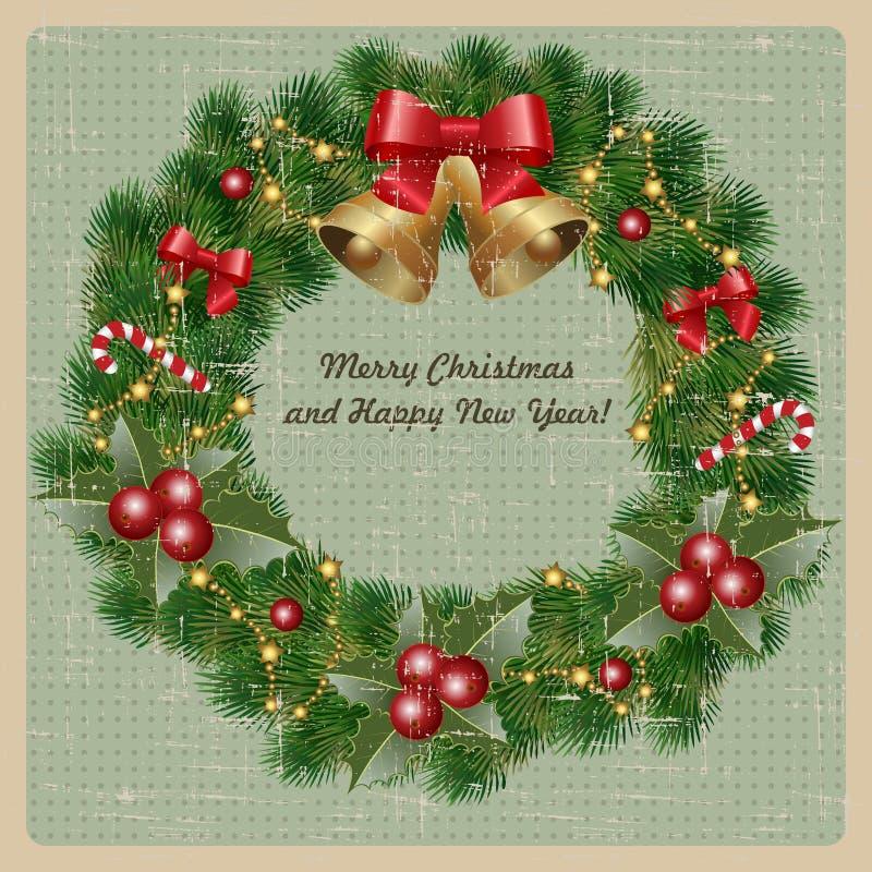 Cumprimentos do Natal ilustração stock