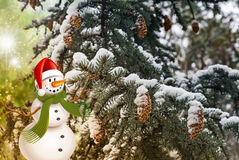 Cumprimentos do Natal, fundo festivo para as imagens rendição 3d fotos de stock