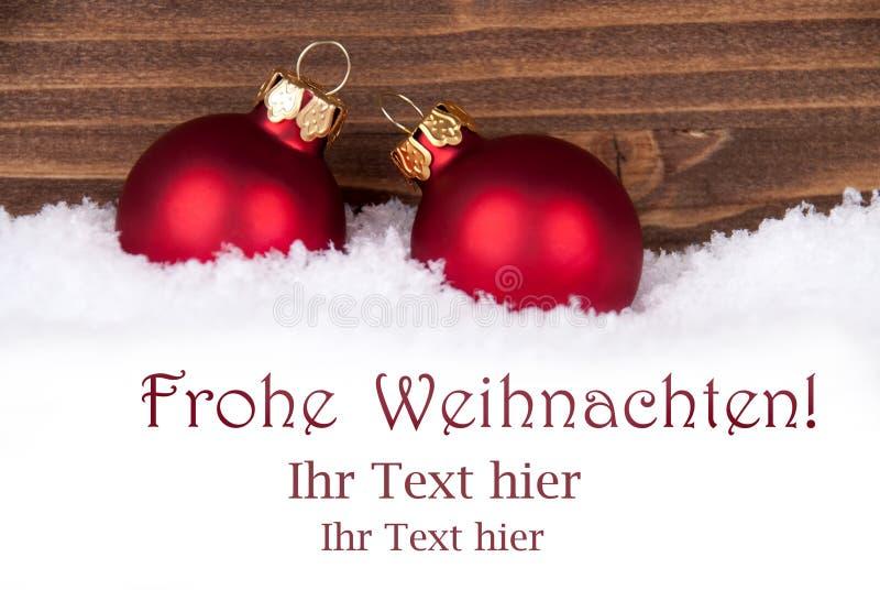 Cumprimentos do Natal na neve imagens de stock royalty free