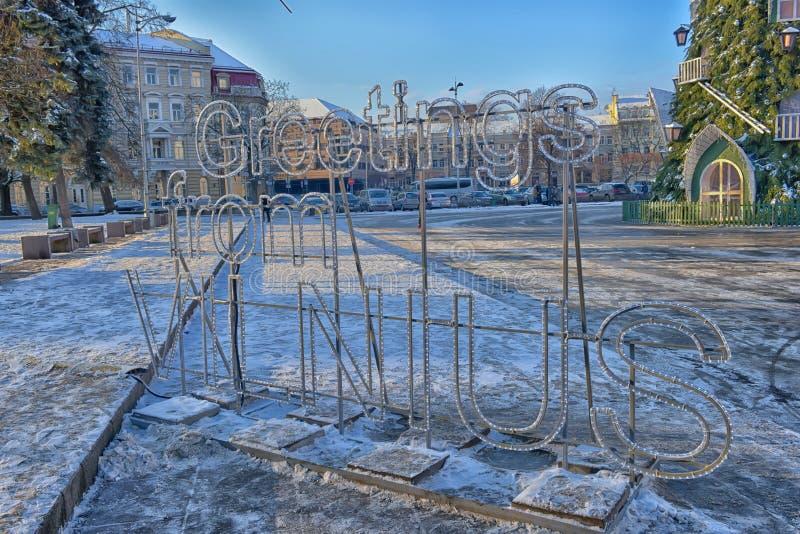 Cumprimentos do sinal de Vilnius fotos de stock royalty free