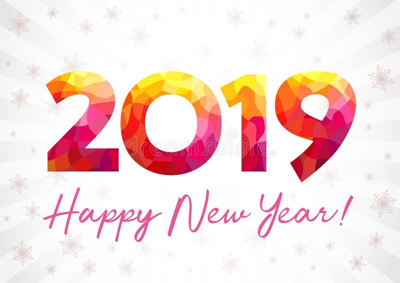 2019 cumprimentos do xmas do ano novo feliz ilustração do vetor
